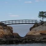 Long Island Sound - man builds bridges no matter what.........May 2014