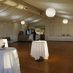 Our lovely marquee venue for Christmas In July Canapes & Drinks 2014, Australia